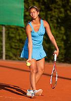 13-8-09, Den Bosch,Nationale Tennis Kampioenschappen, Kwartfinale, Richel Hogenkamp  Lesley Kerkhove