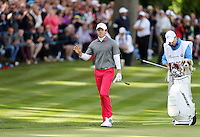 Rory Mcilroy approaches the 18th green - PGA European Tour Golf at Wentworth, Surrey 25/05/14 - MANDATORY CREDIT: Rob Newell/TGSPHOTO - Self billing applies where appropriate - 0845 094 6026 - contact@tgsphoto.co.uk - NO UNPAID USE
