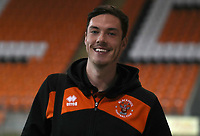 Blackpool's Ben Heneghan<br /> <br /> Photographer Rachel Holborn/CameraSport<br /> <br /> The EFL Checkatrade Trophy Group C - Blackpool v Accrington Stanley - Tuesday 13th November 2018 - Bloomfield Road - Blackpool<br />  <br /> World Copyright © 2018 CameraSport. All rights reserved. 43 Linden Ave. Countesthorpe. Leicester. England. LE8 5PG - Tel: +44 (0) 116 277 4147 - admin@camerasport.com - www.camerasport.com