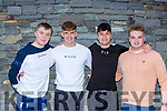 Former St Brendan's College students celebrate their Leaving Cert results in Killarney on Monday