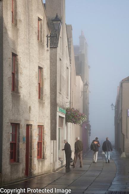 Early Morning Mist in Kirkwall, Orkney Islands, Scotland