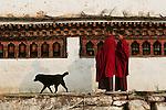 Monks, Paro, Bhutan