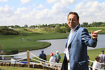 Pascal Grizot chairperson of the 2018 Ryder Cup Comittee announcing that there will be grandstands the whole length of the 1st, 2nd and 18th fairways for the 2018 Ryder Cup, pictured here overlooking the 18th green on day one of the Alstom Open de France, Golf National Saint-Quentin-en-Yvelines, Paris. 30/6/11.Picture Fran Caffrey/www.golffile.ie