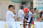 Oliviero Troia (ITA) UAE Team Emirates badly injured during Stage 1 of La Vuelta 2019, a team time trial running 13.4km from Salinas de Torrevieja to Torrevieja, Spain. 24th August 2019.<br /> Picture: Eoin Clarke | Cyclefile<br /> <br /> All photos usage must carry mandatory copyright credit (© Cyclefile | Eoin Clarke)