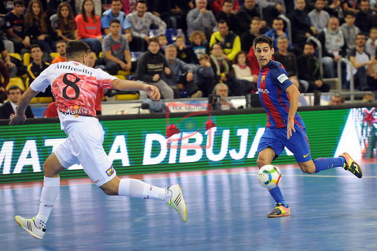 League LNFS 2016/2017 - Game 8.<br /> FC Barcelona Lassa vs ElPozo Murcia: 2-3.<br /> Andresito vs Adolfo Fernandez.