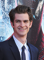 WESTWOOD, CA - JUNE 28: Andrew Garfield. arrives at the Los Angeles premiere of 'The Amazing Spiderman' at Regency Village Theatre on June 28, 2012 in Westwood, California. /NortePhoto.com<br />