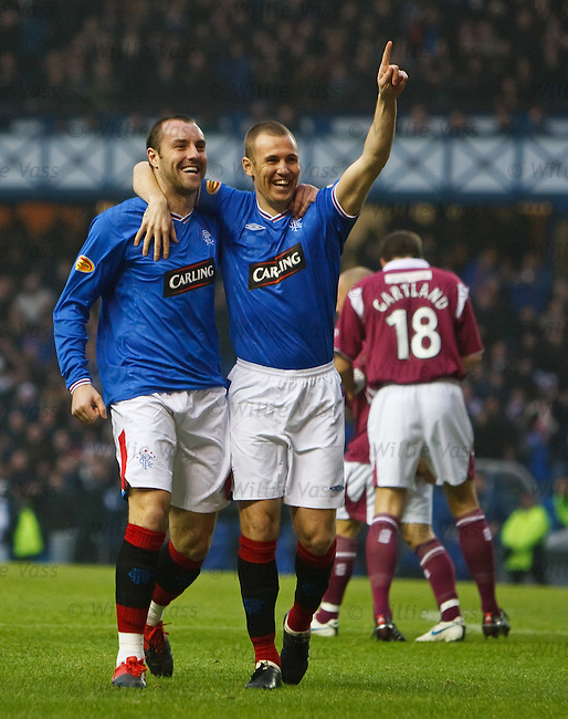 Kris Boyd celebrates his opening goal with Kenny Miller
