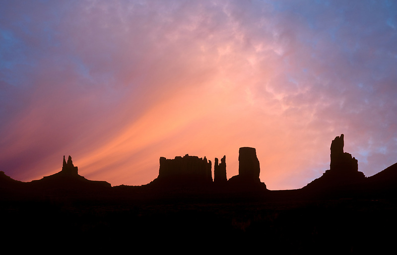Pre-sunrise in Monument Valley, Arizona.