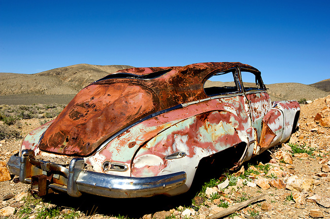 Old car at the Eureka Mine, Death Valley National Park