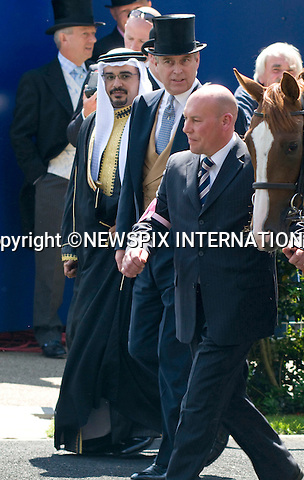 """PRINCE PRINCE ANDREW AND PRINCE SALMAN BIN AL-KHALIFA.Ladies Day of Royal Ascot, Ascot, Berkshire 2010_17/06/2010.Mandatory Photo Credit: ©Dias/Newspix International..**ALL FEES PAYABLE TO: """"NEWSPIX INTERNATIONAL""""**..PHOTO CREDIT MANDATORY!!: NEWSPIX INTERNATIONAL(Failure to credit will incur a surcharge of 100% of reproduction fees)..IMMEDIATE CONFIRMATION OF USAGE REQUIRED:.Newspix International, 31 Chinnery Hill, Bishop's Stortford, ENGLAND CM23 3PS.Tel:+441279 324672  ; Fax: +441279656877.Mobile:  0777568 1153.e-mail: info@newspixinternational.co.uk"""