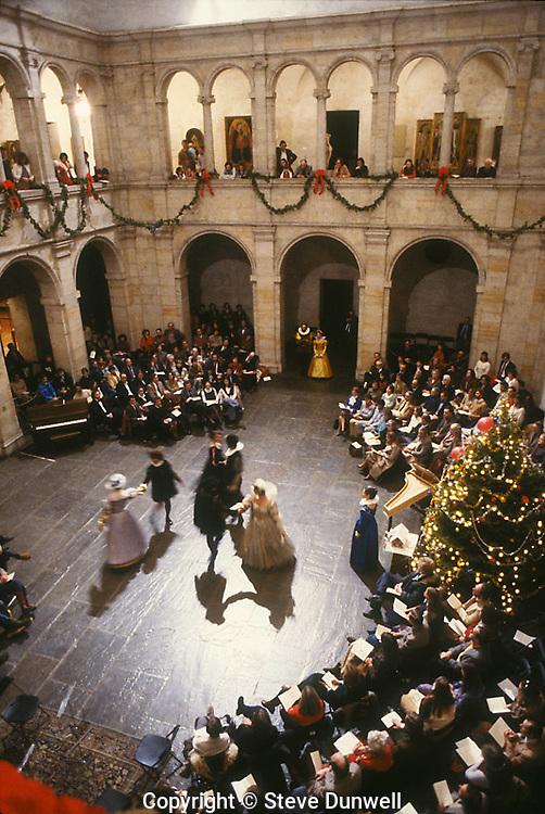 Christmas music at Fogg Museum, Harvard, Cambridge, MA