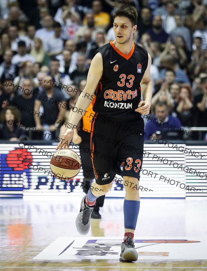 Kosarka ABA League season 2016-2017<br /> Play-Off second match<br /> Partizan v Cedevita<br /> Marko Tomas<br /> Beograd, 25.03.2017<br /> foto: Srdjan Stevanovic/Starsportphoto &copy;