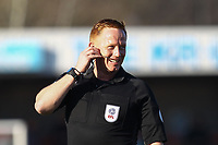 Referee Alan Young during Crawley Town vs Macclesfield Town, Sky Bet EFL League 2 Football at Broadfield Stadium on 23rd February 2019