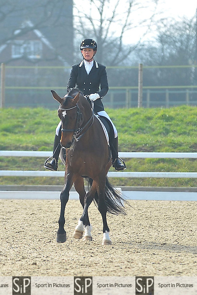 Class 8. British Dressage. Brook Farm Training Centre. Essex. 12/03/2016. MANDATORY Credit Ellie Ingram/Sportinpictures - NO UNAUTHORISED USE - 07837 394578