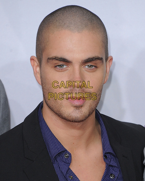 The Wanted - Max George .The 2013 People's Choice Awards held at Nokia Live in Los Angeles, California 9th January 2013                                                                   .headshot portrait stubble facial hair black blue band group .CAP/DVS.©DVS/Capital Pictures.