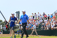 Padraig Harrington (IRL) and caddy Ronan Flood walk off the 1st tee to start his match Sunday's Final Round of the 94th PGA Golf Championship at The Ocean Course, Kiawah Island, South Carolina, USA 11th August 2012 (Photo Eoin Clarke/www.golffile.ie)