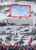 SOELDEN, AUSTRIA, 27.10.2013 - COPA DO MUNDO DE ESQUI ALPINO -  Ted Lifety dos Estados Unidos comemora vitoria durante execução do Audi FIS Copa do Mundo de Esqui Alpino, corrida de slalom gigante em Soelden na Austria , neste domingo, 27. (Foto: Primoz Jeroncic / Pixathlon / Brazil Photo Press).