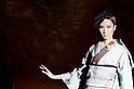 March 21st, 2012: Tokyo, Japan  A model walks down the catwalk wearing JOTARO SAITO during Mercedes-Benz Fashion Week Tokyo 2012 - 13 Autumn/Winter. The Mercedes-Benz Fashion Week Tokyo runs from March 18-24. (Photo by Yumeto Yamazaki/AFLO)