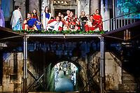 Spalato, Croazia, 26 Luglio, 2008. <br /> Alcuni membri della scuola di Gladiatori di Roma partecipano alle celebrazioni della notte di Diocleziano. Egli fu il primo abitante di Spalato dove costru&igrave; il suo famoso palazzo.<br /> Roman legionnaires and gladiators, coming from the Gladiator School in Rome, march past the streets of Split to celebrate the Diocletian's Night in Split.<br /> The Roman emperor Diocletian was the first inhabitant of Split. He started to build his palace in around 293 AD.