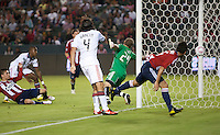 Chivas USA midfielder Jorge Flores (19) scores a goal on Toronto FC goalie Stefan Frei (24) during the second half of the game between Chivas USA and Toronto FC at the Home Depot Center in Carson, CA, on October 9, 2010. Final score Chivas USA 3, Toronto FC 0.