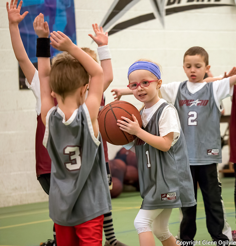 Lukah Brown, 1 - Rebekah Odolphy, 2 - Braydon Engen<br /> <br /> Upward Sports Saturday basketball at Missionary Church
