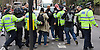 Far right activists protesting outside Regent's Park Mosque in Central London, Great Britain <br /> 3rd April 2015 <br /> <br /> <br /> Members of the English Defence League <br /> <br /> and <br /> <br /> Britain First <br /> <br /> Police and Muslims who have been praying at the Mosque. <br /> <br /> Photograph by Elliott Franks <br /> Image licensed to Elliott Franks Photography Services