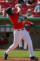 April 18, 2010: Rich Poythress of the High Desert Mavericks during game against the Lake Elsinore Storm at Mavericks Stadium in Adelanto,CA.  Photo by Larry Goren/Four Seam Images
