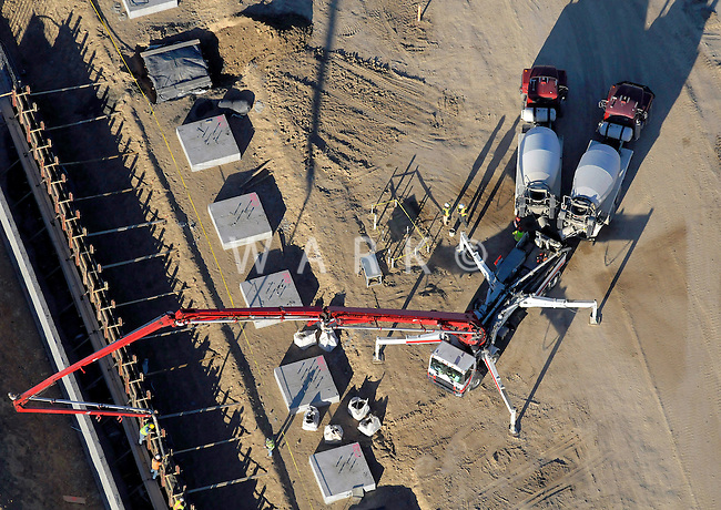 concrete pumping aerial view