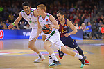 Turkish Airlines Euroleague 2017/2018.<br /> Regular Season - Round 13.<br /> FC Barcelona Lassa vs Unicaja Malaga: 83-90.<br /> Alberto Diaz vs Pau Ribas.