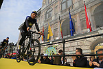 Christian Knees (GER) Team Sky at the team presentation in Antwerp before the start of the 2019 Ronde Van Vlaanderen 270km from Antwerp to Oudenaarde, Belgium. 7th April 2019.<br /> Picture: Eoin Clarke | Cyclefile<br /> <br /> All photos usage must carry mandatory copyright credit (&copy; Cyclefile | Eoin Clarke)