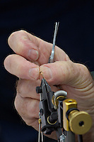 A fly tying demonstration.