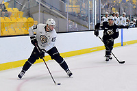 June 29, 2018: Boston Bruins forward Tom Marchin (89) works in the corner during a scrimmage at the Boston Bruins development camp held at Warrior Ice Arena in Brighton Mass. Eric Canha/CSM