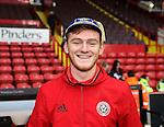 Shea Gordon with his U19 Irish football cap during the English League One match at Bramall Lane Stadium, Sheffield. Picture date: December 10th, 2016. Pic Simon Bellis/Sportimage