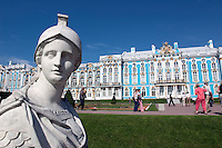 St. Catherines palace outside of St. Petersburg, Russia.