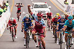 Nathan Haas (AUS) Team Katusha-Alpecin wins Stage 2 of the 2018 Tour of Oman running 167.5km from Sultan Qaboos University to Al Bustan. 14th February 2018.<br /> Picture: ASO/Muscat Municipality/Kare Dehlie Thorstad | Cyclefile<br /> <br /> <br /> All photos usage must carry mandatory copyright credit (&copy; Cyclefile | ASO/Muscat Municipality/Kare Dehlie Thorstad)