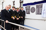 Pictured at the unveiling of the commemorative plaque marking 100 years of marine service at Valentia Radio Station on Friday were l-r; Minister Jimmy Deenihan, Cllr.Patrick O'Connor-Scarteen, John Draper Div. Controller Valentia, Chris Reynolds Director Irish Coast Guards, Brendan Griffin T.D. & Minister Paschal Donohoe.