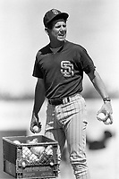 San Diego Padres Manager Larry Bowa during a 1988 spring training game in Palm Springs,California.(Larry Goren/Four Seam Images)