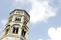 Il campanile della chiesa di San Donato a Genova.<br /> The bell tower of the church of San Donato in Genoa.<br /> UPDATE IMAGES PRESS/Riccardo De Luca