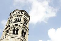 Il campanile della chiesa di San Donato a Genova.<br /> The bell tower of the church of San Donato in Genoa.<br /> UPDATE IMAGES PRESS/Riccardo De Luca