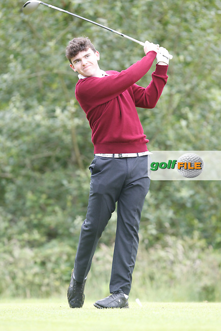 Ronan Cross (Ballybunion) on the 12th tee during the Semi-Finals of the Munster Bruen &amp; Shield Finals at East Clare Golf Club on Sunday 19th July 2015.<br /> Picture:  Golffile | Thos Caffrey All photo usage must carry mandatory copyright credit (&copy; Golffile | Thos Caffrey)