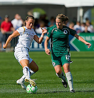 Los Angeles Sol forward Brittany Bock (11) juggles the ball as St Louis Athletica Elise Weber (12) defends during a WPS match at Hermann Stadium, in St. Louis, MO, April 25 2009. The match ended in a 0-0 tie.