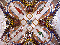 Botrugno (LE) - Salento - Particolare del soffitto affrescato nel Palazzo Marchesale Guarini.