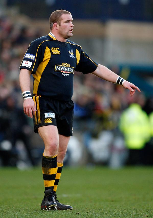 Photo: Richard Lane/Richard Lane Photography..London Wasps v Bath Rugby. Guinness Premiership. 29/12/2007. .Wasps' Phil Vickery.