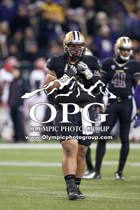 NOV 10, 2012:  Washington's Danny Shelton against Utah.  Washington defeated Utah  34-15 at CenturyLink Field in Seattle, WA...