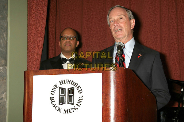 MAYOR MICHAEL BLOOMBERG.One Hundred BlackMen 25th Annual Benefit Gala at The Hilton Towers In New York City. .November 11, 2004.half length, stage, speech.www.capitalpictures.com.sales@capitalpictures.com.© Capital Pictures