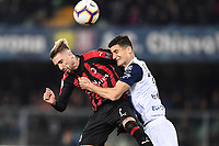 Samuel Castillejo-Marco Andreolli<br /> Verona 9-03-2018 Stadio Bentegodi Football Serie A 2018/2019 Chievo Verona - AC Milan <br /> photo Image Sport / Insidefoto