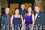COMMITTEE: The committee members of Kerry Farmers Hunt Ball at the Ballygarry House hotel and Spa on Friday l-r: Tommy Kelly (vice chairman), Maureen Considine (treasurer), Michael McMahon (PRO), Teresa Parkinson (secretary) and Pat Enright (chairman).
