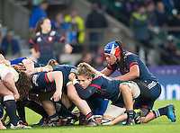 Twickenham, United Kingdom.  France No. 8, Safi N'DIAYE, during the  Women's RBS.Six Nations : England Women  vs France Women. at the  RFU Stadium, Twickenham, England, <br /> <br /> Saturday  04/02/2017<br /> <br /> [Mandatory Credit; Peter Spurrier/Intersport-images]