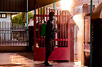 Sudanese spray disinfectant mosques, as a preventive measure amid fears of the spread of the coronavirus disease (COVID-19) in Khartoum, Sudan, on April 25, 2020. Photo by faiz Abu bakr