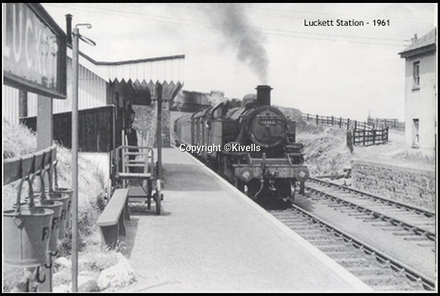 BNPS.co.uk (01202 558833)<br /> Pic: Kivells/BNPS<br /> <br /> Luckett Station in 1961.<br /> <br /> Railway enthusiasts are getting steamy about the prospect of living in this former station master's house - which comes with the old track bed and platform in its back garden.<br /> <br /> Old Luckett Station near Callington, Devon, that is on the market for £700,000, consists of a three bed detached house and an indoor swimming pool and steam room that used to be the ticket office and waiting room.<br /> <br /> Luckett Station served travellers on the old Southern Line from 1908 but was axed as part of the Beeching Cuts in the 1960s.<br /> <br /> The station master's house went into private ownership and each of the occupants has conserved the station instead of tearing it down.